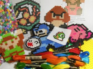 Perler Beads and Cross Stitch