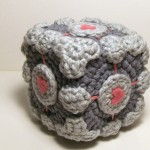 Portal - Amigurumi Weighted Companion Cube